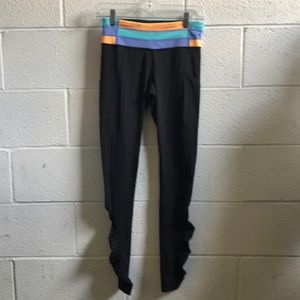 Lululemon black w/ color band full legging sz 4
